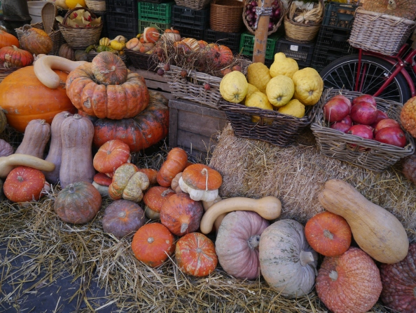 Lots of fruit and veg' is available at Florence's outdoor food market