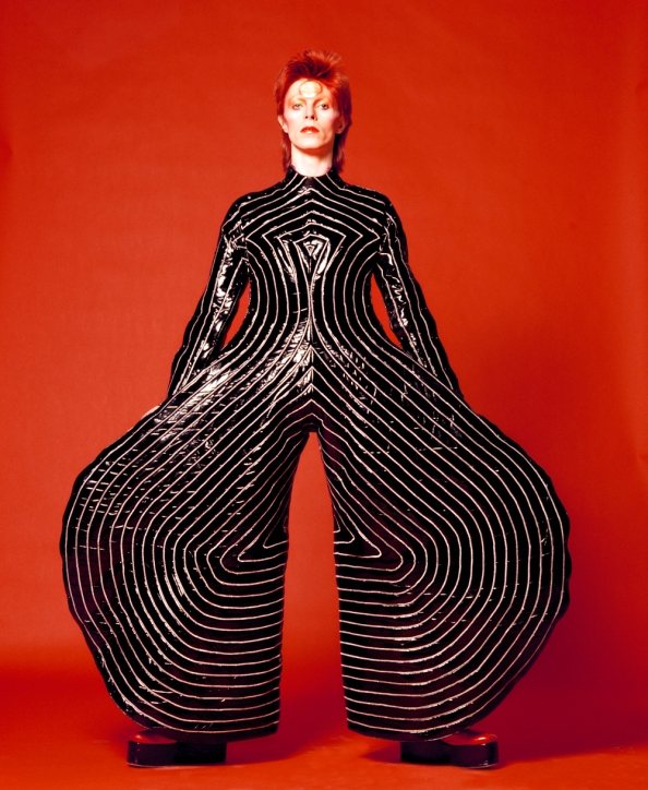 Striped bodysuit for Aladdin Sane tour 1973