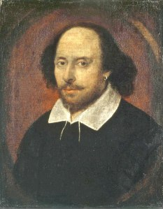William Shakespeare, artist unknown. From the National Portrait Gallery, London.