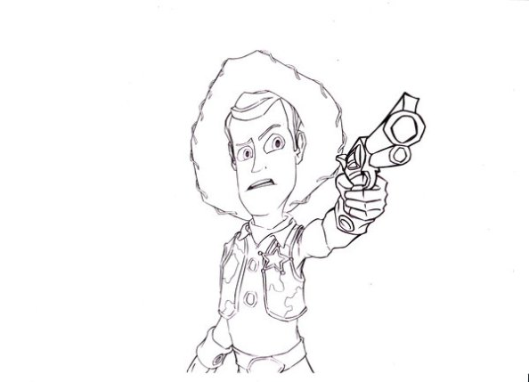Sheriff Woody or Rick Grimes? Picture from http://www.deviantart.com.